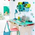 spazio per studiare nella camera dei bambini