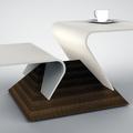 Tavolino da caffè 'Virgola' piani di DuPont™ Corian®