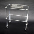 Tavolino in plexiglass trasparente