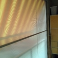 tenda veranda con tubo frangivento