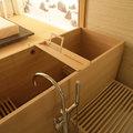 Vasca da bagno in legno