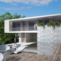 vista 02 - terrazza abitazione con piscina