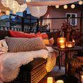 Vivere terrazzo e giardino in autunno
