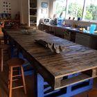 tavolo con bancali riciclati
