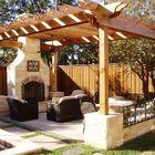 tettoia di legno outdoor