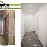 Ristrutturazione integrale appartamento. Nuova distribuzione degli spazi interni.