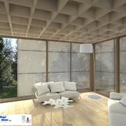Bergamo  progetto realizzazione edificio in legno particolare del cassonetto
