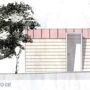 Casetta in legno prospetto ovest