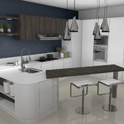 Cucina Laccata Bianca realizzata da Arch. Echeli