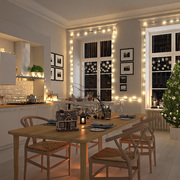decorare finestre per Natale
