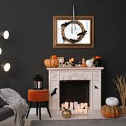 decorazioni camino Halloween