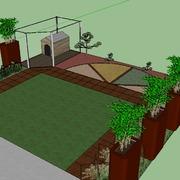 Progetto per giardino contemporaneo zen