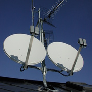 Gruppo antenne ricezione 4 sat + digitale terrestre