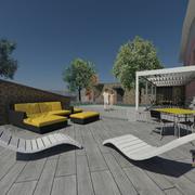 Distributori Kerakoll - Progetto realizzazione di box doppio e giardino a Milano (MI)