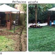 Distributori Petzl - Installazione impianto di irrigazione e posa prato