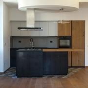 La cucina con isola a vista
