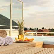 la piscina in terrazza