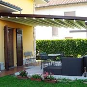 La Stanza del Sole Gibus, pergola in alluminio Linea Mediterranea, modello Med Unica 130
