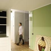 nuova porta in vetro cucina