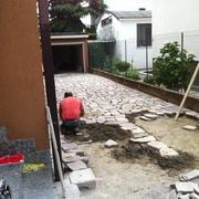 Progetto di rifacimento pavimentazione esterna in porfido
