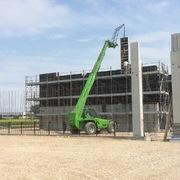 Realizzazione muri in cemento armato con pannelli metallici per centrale termica