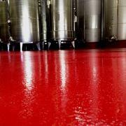Pavimento in resina multistrato spessore 2 mm antiscivolo e antiacido realizzato all'interno di una prestigiosa azienda vinicola compreso smalto epossidico per pareti