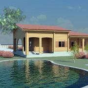 Progetto di una casa in legno interamente personalizzata