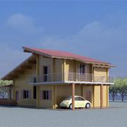 Progetto Realizzazione Villetta in legno con posto auto; progettazione interamente personalizzata