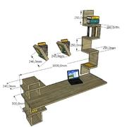 progetto scrivania a snodo