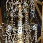 Restauro di un lampadario antico Luigi XVI