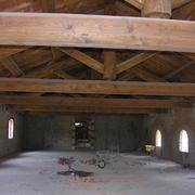 tetto in legno ripristinato