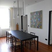 Bastone con scivoli a soffitto laccato bianco