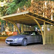 tettoia in legno design