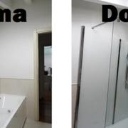 Trasformazione della vasca in doccia prima e dopo