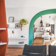 Vista del soggiorno/cucina