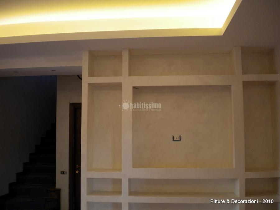 Realizzazione controsoffitti e decorazione con White Paint