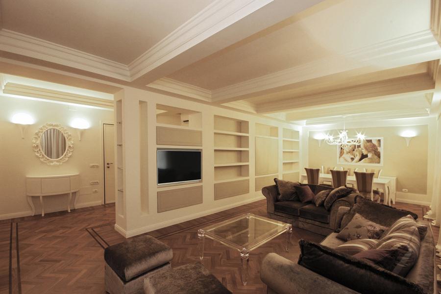 Architettura d 39 interni in stile classico contemporaneo for Progetti case moderne interni