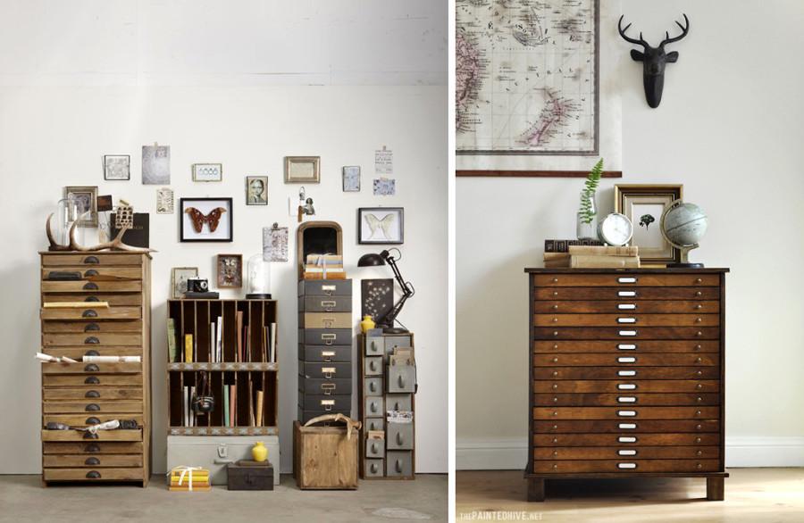 Schedario Ufficio Vintage : Pavimenti mobili e valigie: la mia casa vintage idee interior