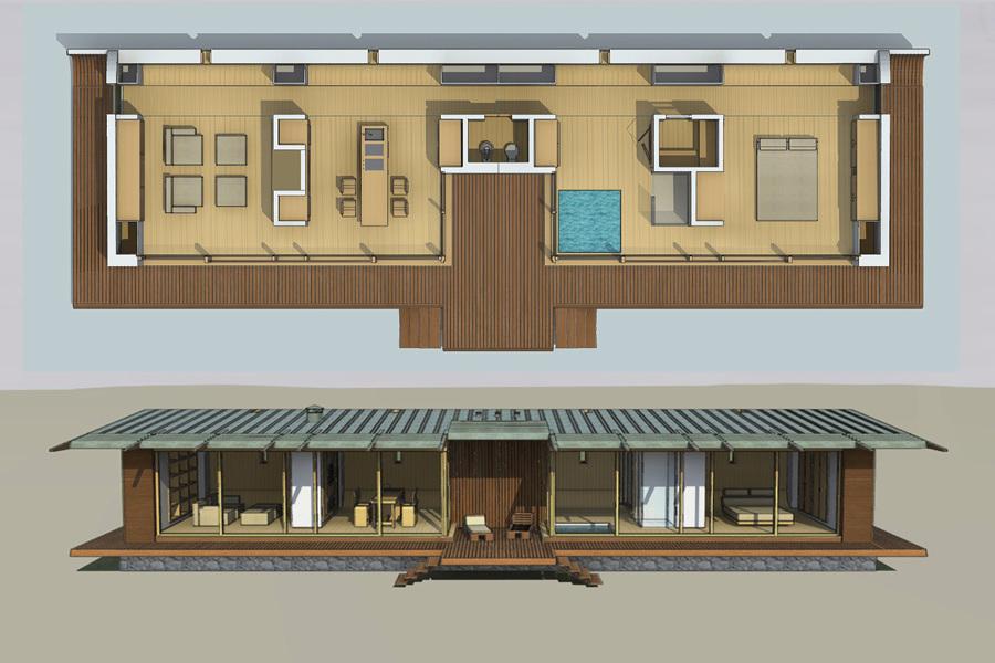 Una casa passiva prefabbricata per le vacanze idee architetti - Casa passiva prefabbricata ...