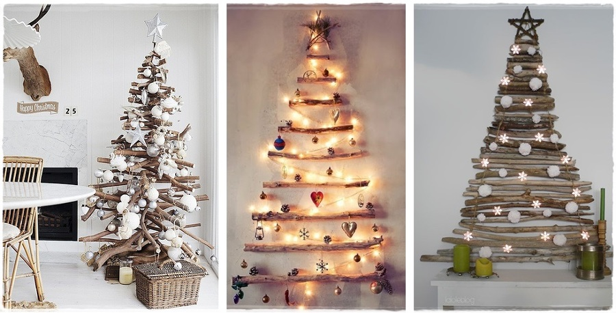 Decorazione naturale tronchi e rami per abbellire la tua for Ideas para decorar tu jardin en navidad