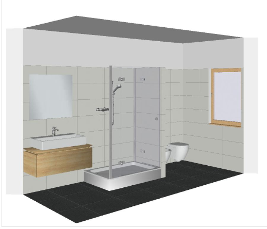 Progetto demolizione e rifacimento del bagno idee - Idee ristrutturazione bagno stretto e lungo ...
