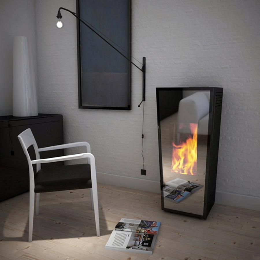Idee d 39 arredo stufe a pellet per riscaldare ed arredare casa idee interior designer - Stufe a pellet design ...