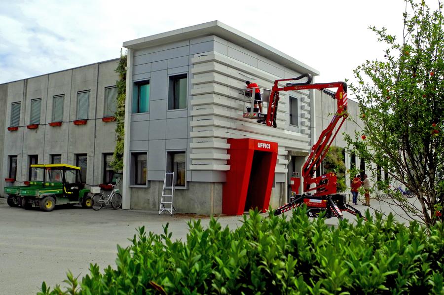 Allestimento della facciata