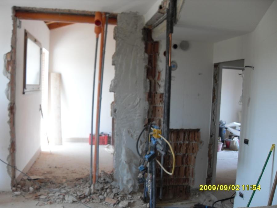 ampliamento per nuova cucina in muratura