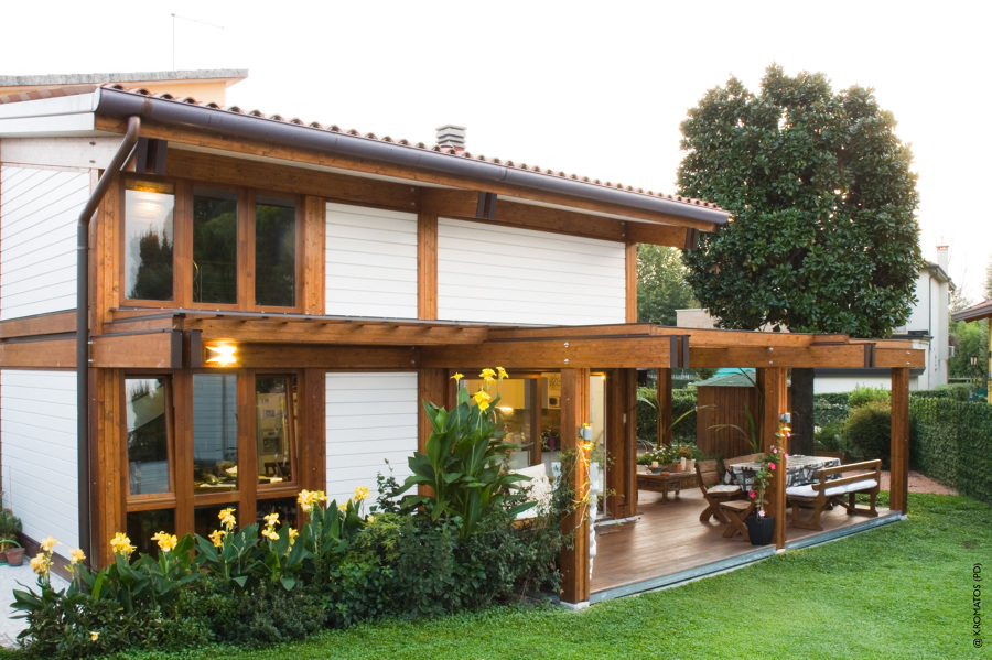 Progetto ampliamento in legno con soppalco padova idee for Piano di costruzione in legno soppalco