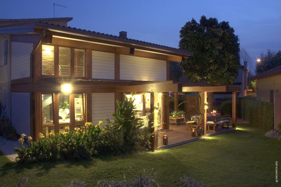 Progetto ampliamento in legno con soppalco padova idee costruzione case prefabbricate - Ampliamento casa in legno ...