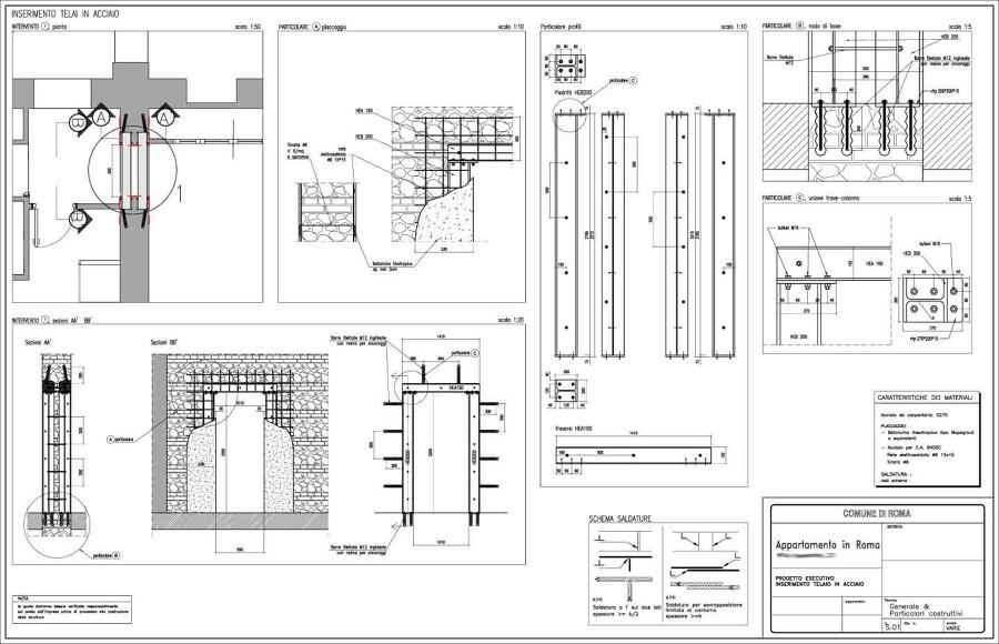 Progetto per apertura vano porta idee ristrutturazione casa - Chiusura vano scala interno ...