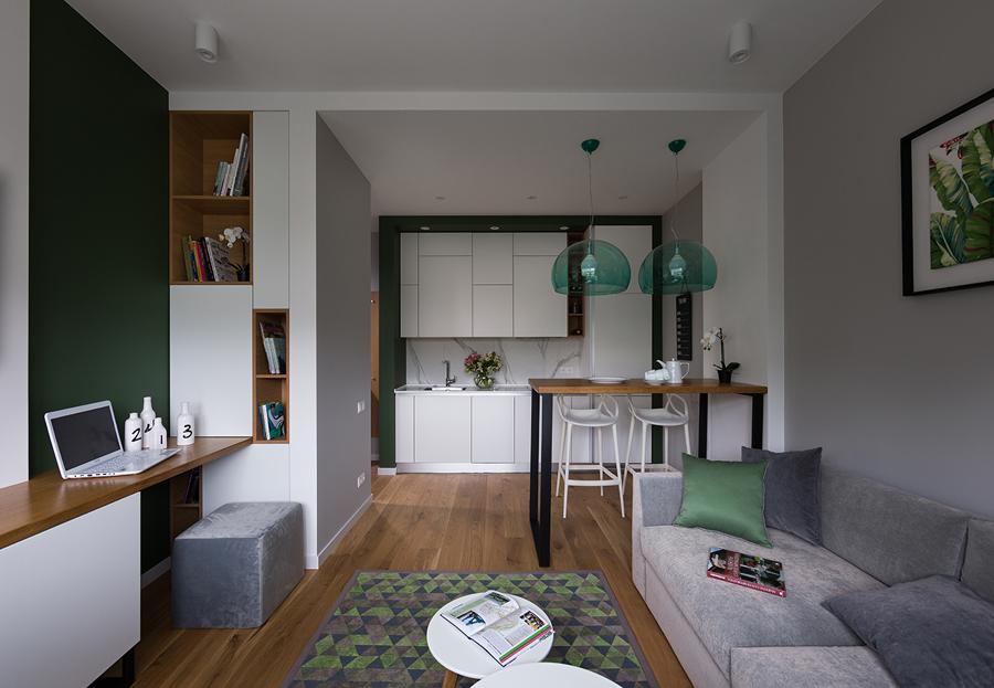 Appartamento con piccola cucina