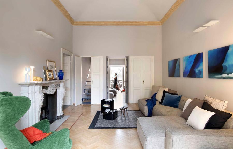 Appartamento ristrutturato con soffitti voltati