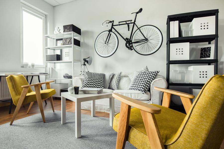 Appendere bicicletta in casa